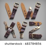 3d vintage steam punk alphabet... | Shutterstock . vector #683784856