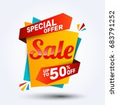 super sale discount banner... | Shutterstock .eps vector #683791252
