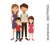 family with kids | Shutterstock .eps vector #683795422