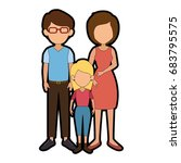 family with kids | Shutterstock .eps vector #683795575