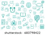 back to school background. back ... | Shutterstock .eps vector #683798422