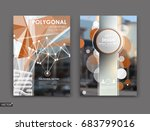 abstract binder.  white low... | Shutterstock .eps vector #683799016