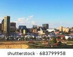 skyline view of baltimore ... | Shutterstock . vector #683799958