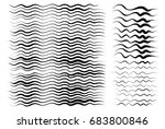 wavy lines  brush drawing.... | Shutterstock .eps vector #683800846