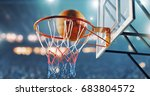 basketball hoop in a... | Shutterstock . vector #683804572