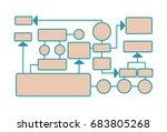 workflow diagram  working... | Shutterstock .eps vector #683805268