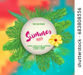 summer tropical background with ... | Shutterstock .eps vector #683808556