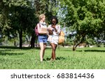 beautiful young multiethnic... | Shutterstock . vector #683814436