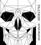 modern polygonal line hipster... | Shutterstock .eps vector #683815762