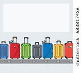 different colorful luggage bag... | Shutterstock .eps vector #683817436