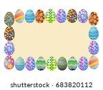 easter eggs around a blank...   Shutterstock .eps vector #683820112