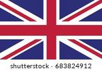 united kingdom national flag...   Shutterstock . vector #683824912