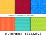 collection of seamless... | Shutterstock .eps vector #683832928