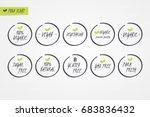 100  organic natural gluten... | Shutterstock .eps vector #683836432