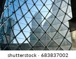 blue sky with glass structure... | Shutterstock . vector #683837002