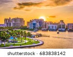 sarasota  florida  usa downtown ... | Shutterstock . vector #683838142