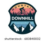 modern downhill bike logo badge ... | Shutterstock .eps vector #683840032