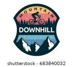 modern downhill bike logo badge ... | Shutterstock .eps vector #683840032