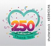 thank you design template for... | Shutterstock .eps vector #683843146