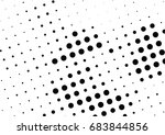 abstract halftone dotted... | Shutterstock .eps vector #683844856