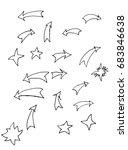 doodle arrows and stars. vector ... | Shutterstock .eps vector #683846638