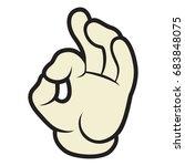 hand ok   Shutterstock .eps vector #683848075