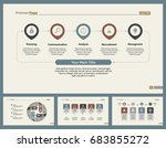 four business slide templates... | Shutterstock .eps vector #683855272