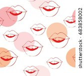 lip pattern   vector ... | Shutterstock .eps vector #683858002