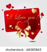 romantic background with heart | Shutterstock .eps vector #68385865