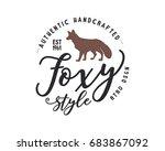 vintage hand drawn wild animal... | Shutterstock . vector #683867092
