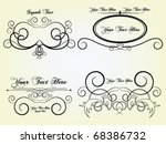 vector design set | Shutterstock .eps vector #68386732