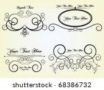 vector design set | Shutterstock .eps vector #68386732