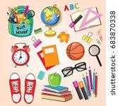 stationery  school items | Shutterstock .eps vector #683870338