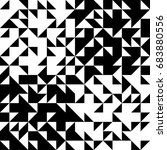black geometric pattern of... | Shutterstock .eps vector #683880556