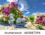 bodrum street view in turkey  ...   Shutterstock . vector #683887396