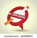 stock vector no smoking sign | Shutterstock .eps vector #68388850