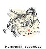 happy raksha bandhan... | Shutterstock .eps vector #683888812