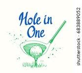 golf. vector set of hand drawn... | Shutterstock .eps vector #683889052