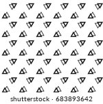 geometric black and white... | Shutterstock .eps vector #683893642