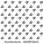 geometric black and white... | Shutterstock .eps vector #683893642
