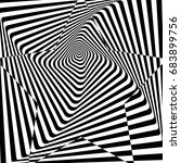 Optical Illusion Of Distorted...