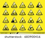 set of safety warning signs.... | Shutterstock .eps vector #683900416