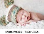newborn baby sleeping. soft... | Shutterstock . vector #68390365