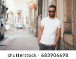 hipster handsome male model... | Shutterstock . vector #683906698