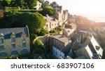 le mont saint michel tidal... | Shutterstock . vector #683907106