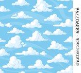 seamless pattern with cartoon... | Shutterstock .eps vector #683907796
