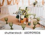 in the wedding banquet area... | Shutterstock . vector #683909836