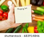 blank shopping list | Shutterstock . vector #683914846