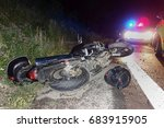 real event  motorcycle accident ... | Shutterstock . vector #683915905