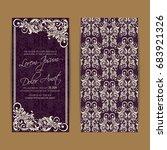 wedding vintage invitation card ... | Shutterstock .eps vector #683921326
